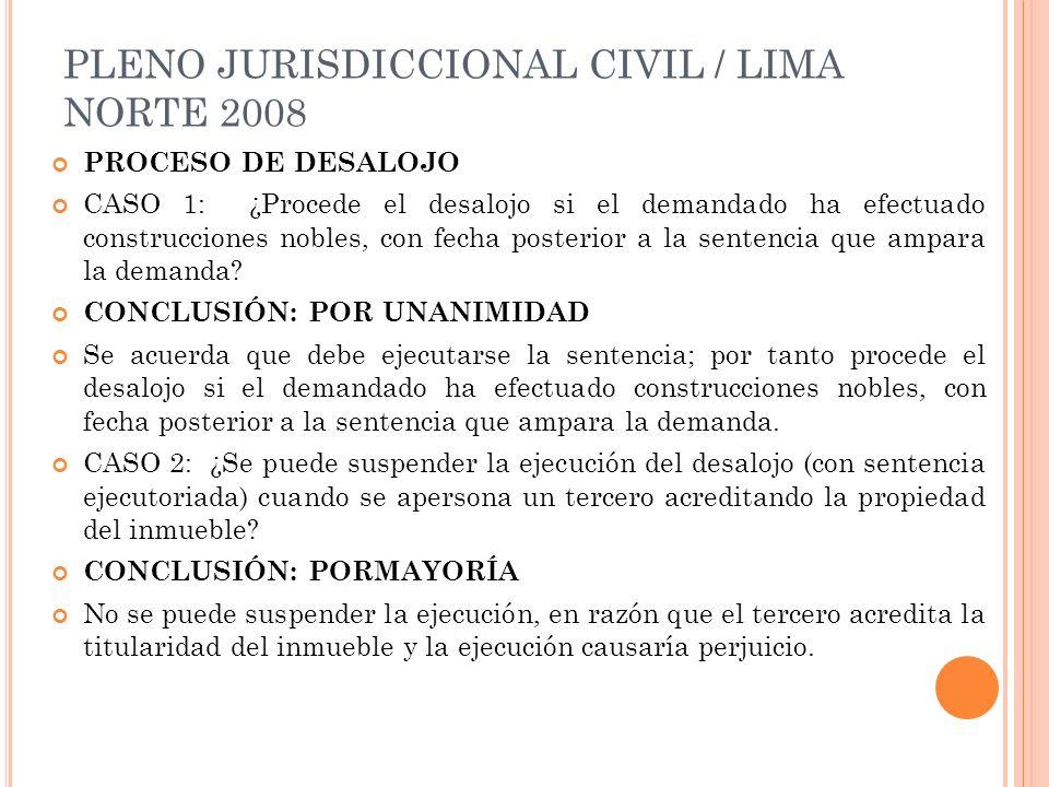 PLENO JURISDICCIONAL CIVIL / LIMA NORTE 2008