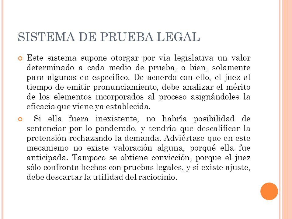 SISTEMA DE PRUEBA LEGAL