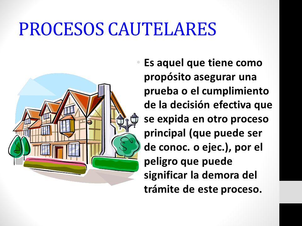 PROCESOS CAUTELARES