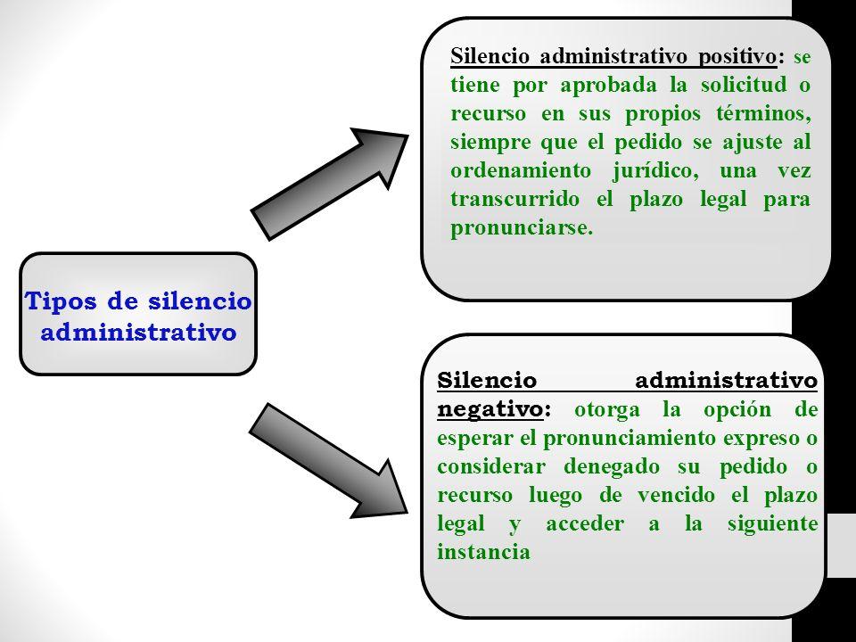 Tipos de silencio administrativo