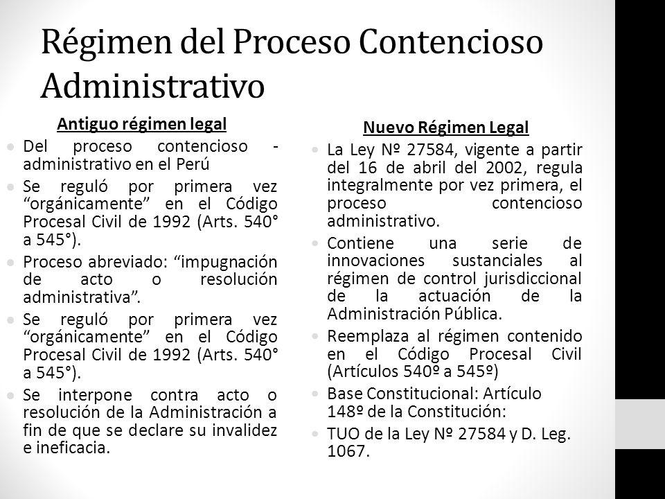 Régimen del Proceso Contencioso Administrativo