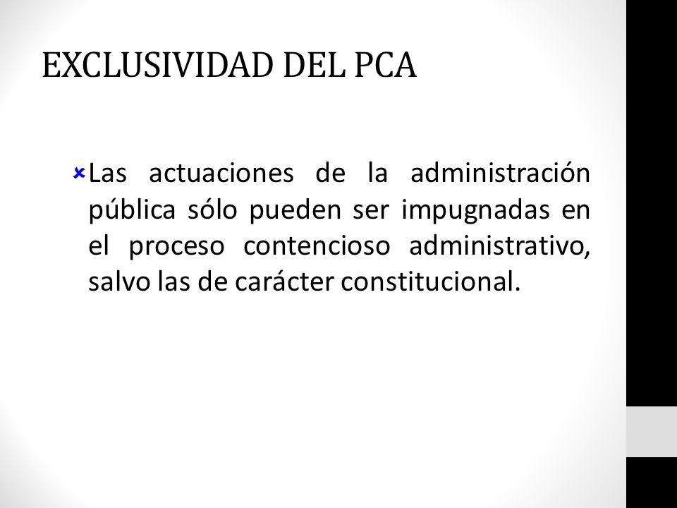 EXCLUSIVIDAD DEL PCA
