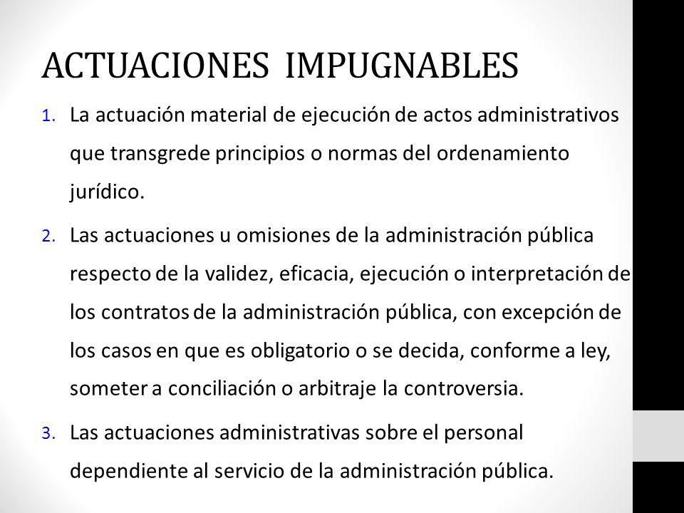 ACTUACIONES IMPUGNABLES