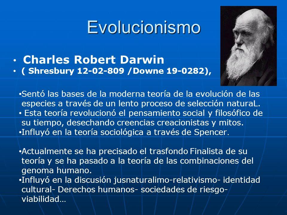 Evolucionismo Charles Robert Darwin
