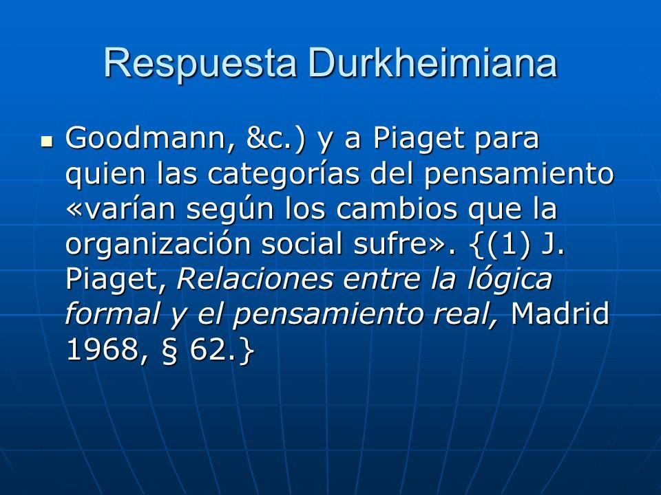 Respuesta Durkheimiana
