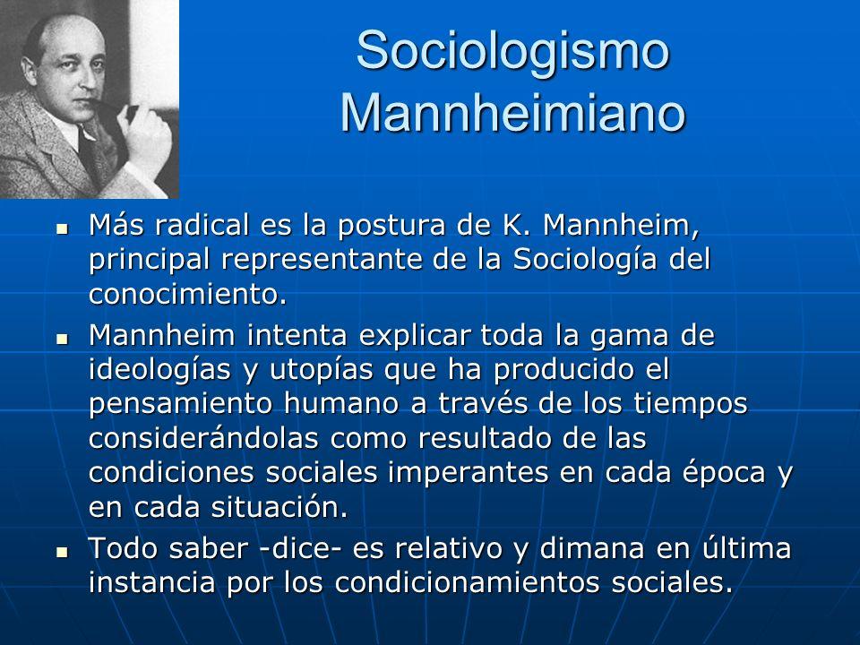 Sociologismo Mannheimiano