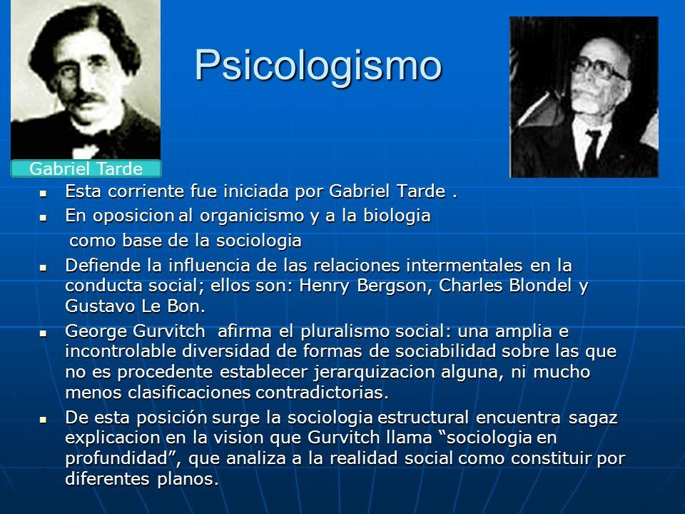 Psicologismo Gabriel Tarde
