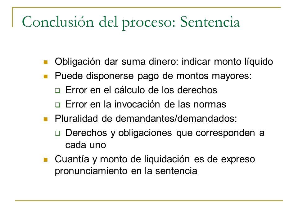 Conclusión del proceso: Sentencia