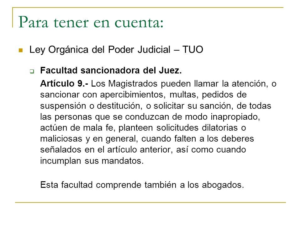 Para tener en cuenta: Ley Orgánica del Poder Judicial – TUO