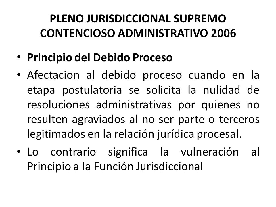 PLENO JURISDICCIONAL SUPREMO CONTENCIOSO ADMINISTRATIVO 2006