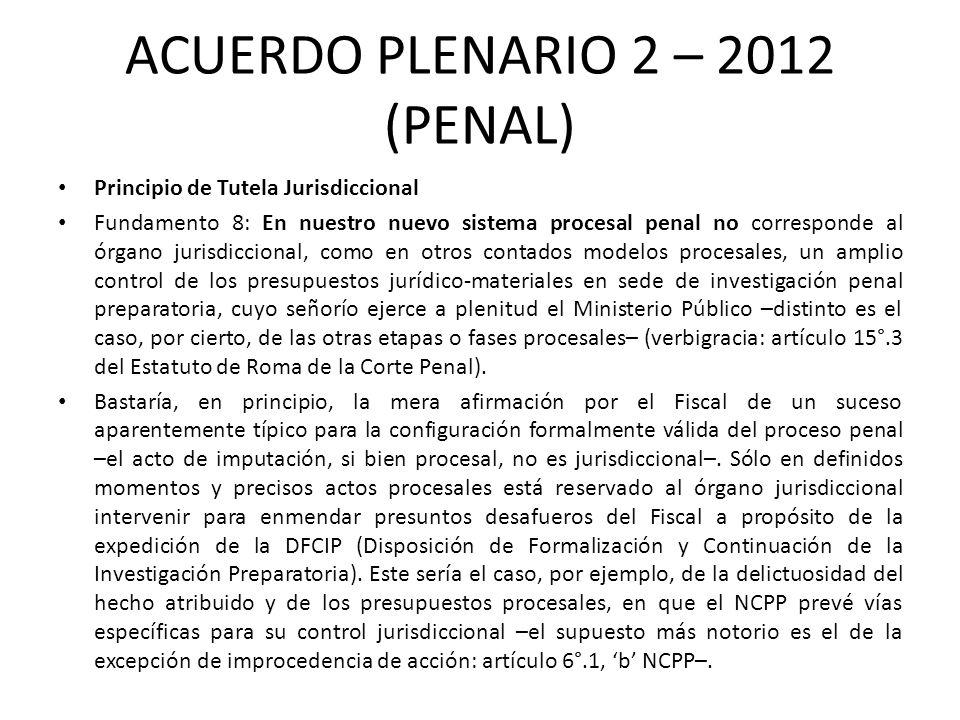 ACUERDO PLENARIO 2 – 2012 (PENAL)