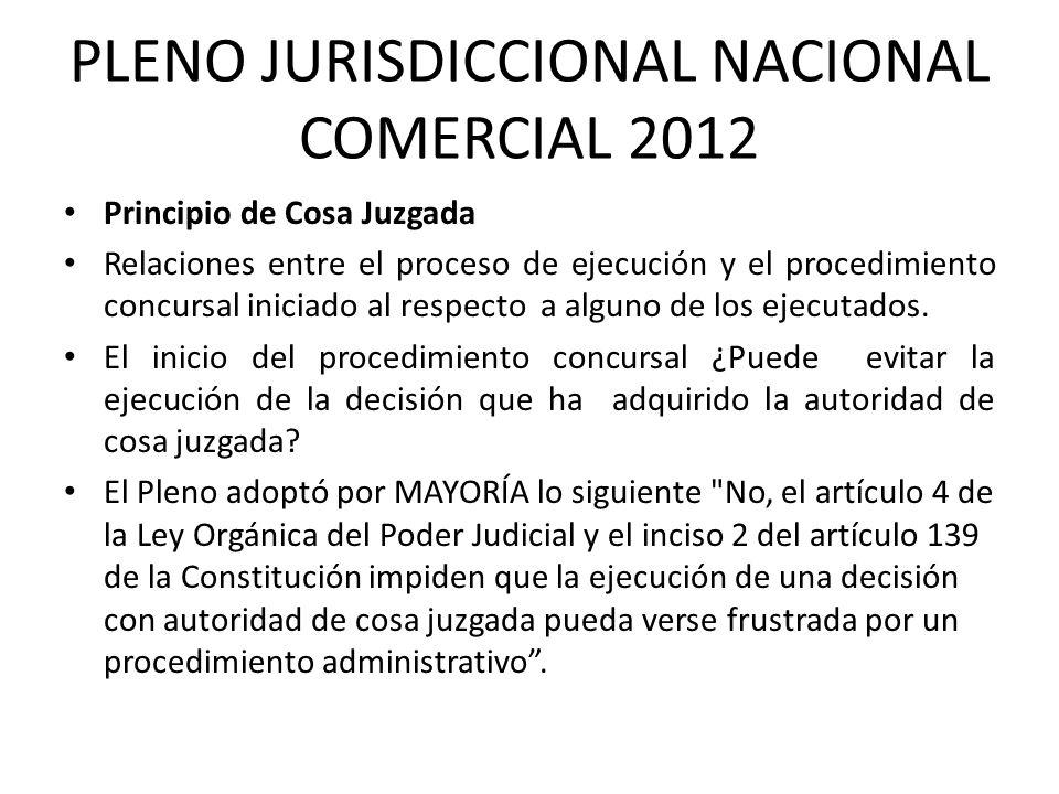PLENO JURISDICCIONAL NACIONAL COMERCIAL 2012