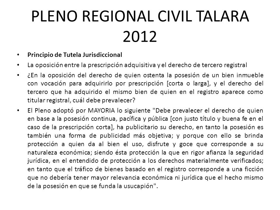 PLENO REGIONAL CIVIL TALARA 2012
