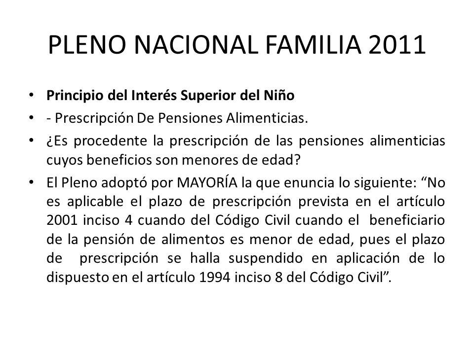 PLENO NACIONAL FAMILIA 2011