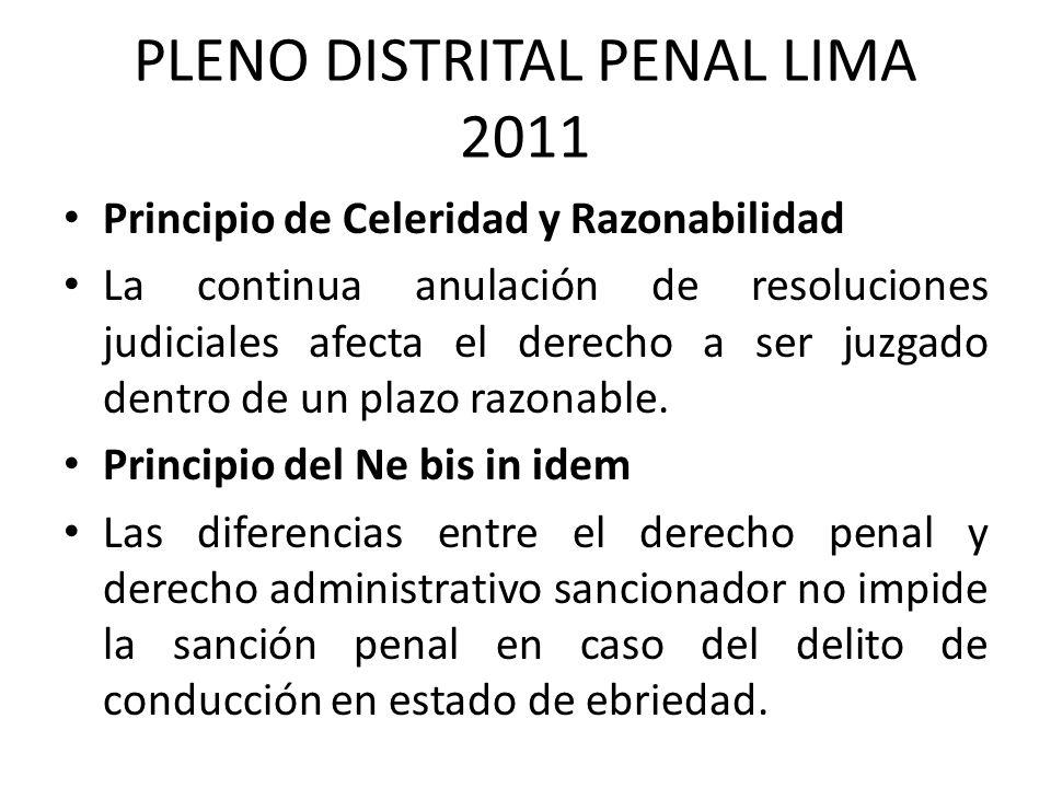 PLENO DISTRITAL PENAL LIMA 2011
