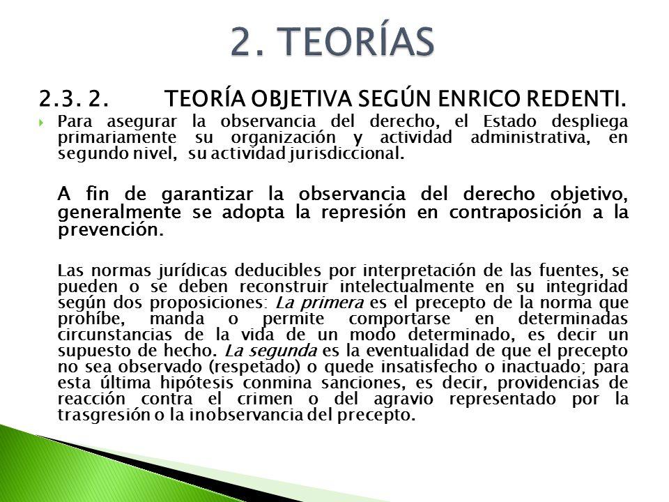 2. TEORÍAS 2.3. 2. TEORÍA OBJETIVA SEGÚN ENRICO REDENTI.