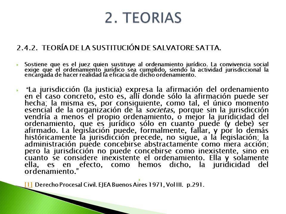 2. TEORIAS 2.4.2. TEORÍA DE LA SUSTITUCIÓN DE SALVATORE SATTA.