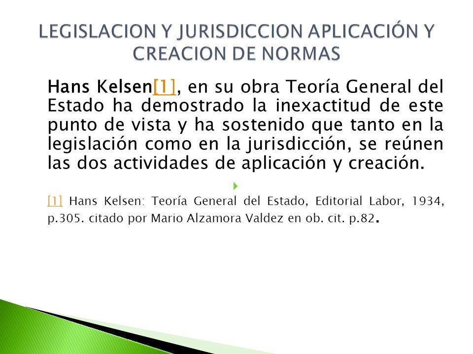 LEGISLACION Y JURISDICCION APLICACIÓN Y CREACION DE NORMAS