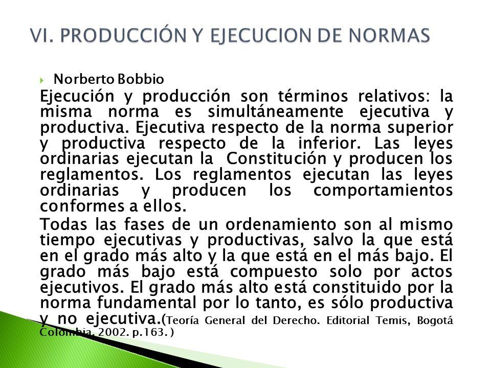 VI. PRODUCCIÓN Y EJECUCION DE NORMAS