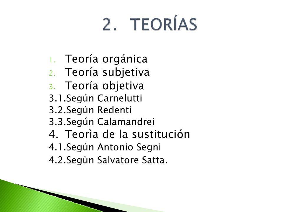 2. TEORÍAS Teoría orgánica Teoría subjetiva Teoría objetiva
