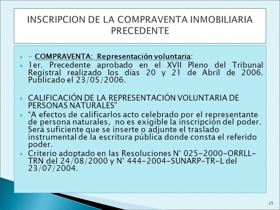 CALIFICACIÓN DE LA REPRESENTACIÓN VOLUNTARIA DE PERSONAS NATURALES