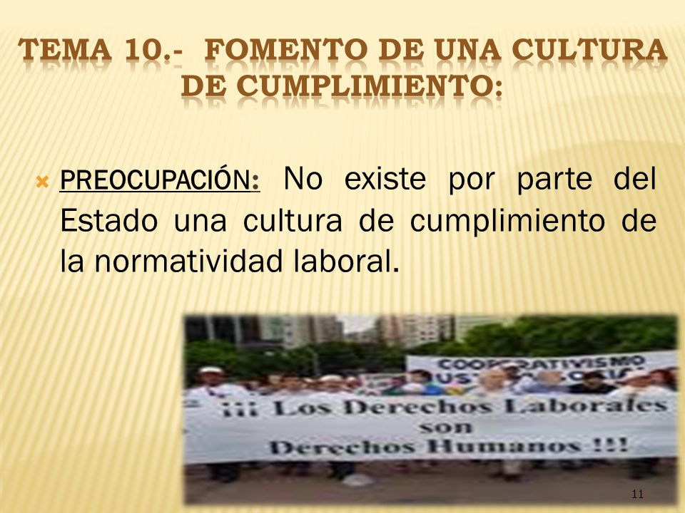 TEMA 10.- FOMENTO DE UNA CULTURA DE CUMPLIMIENTO: