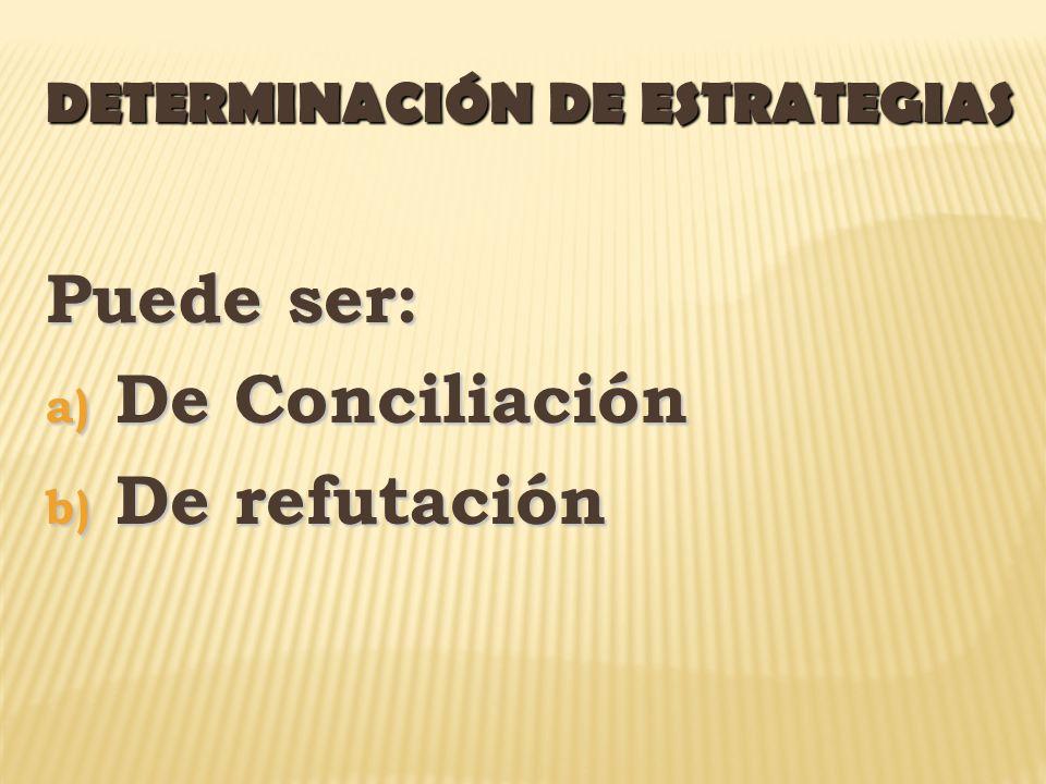 DETERMINACIÓN DE ESTRATEGIAS