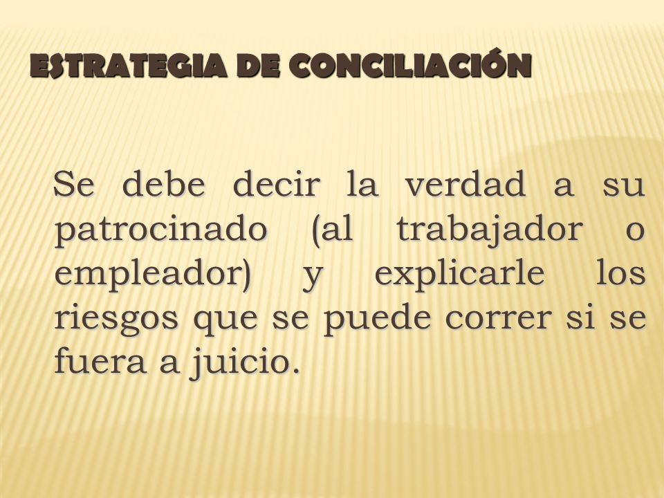 ESTRATEGIA DE CONCILIACIÓN