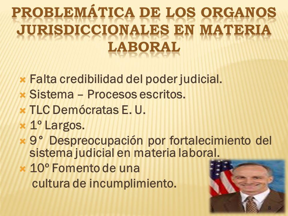 PROBLEMÁTICA DE LOS ORGaNOS JURISDICCIONALES EN MATERIA LABORAL
