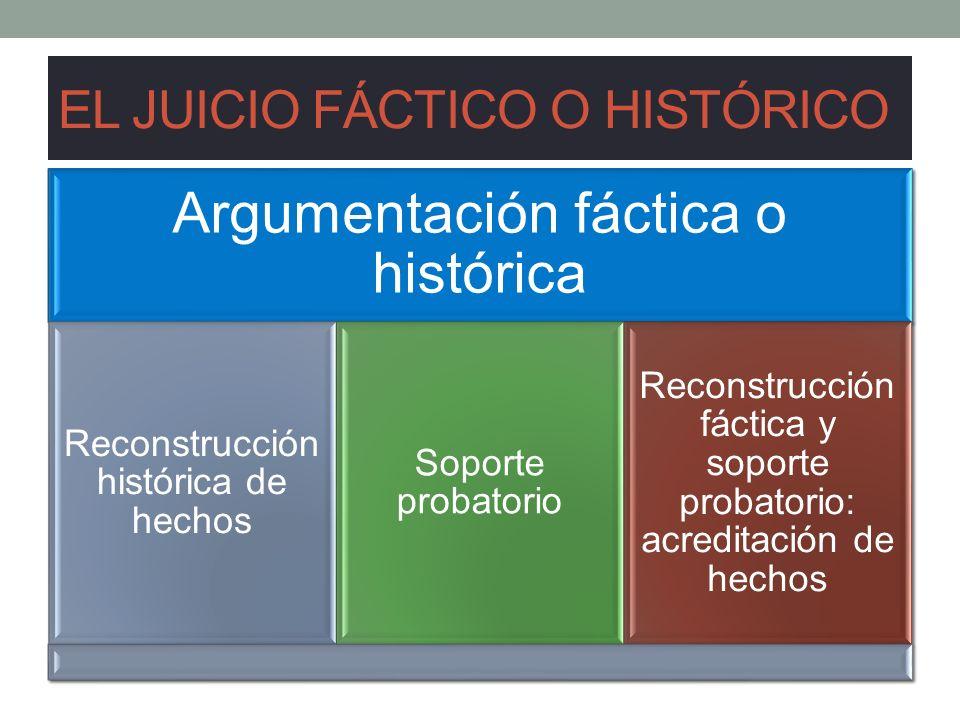 EL JUICIO FÁCTICO O HISTÓRICO