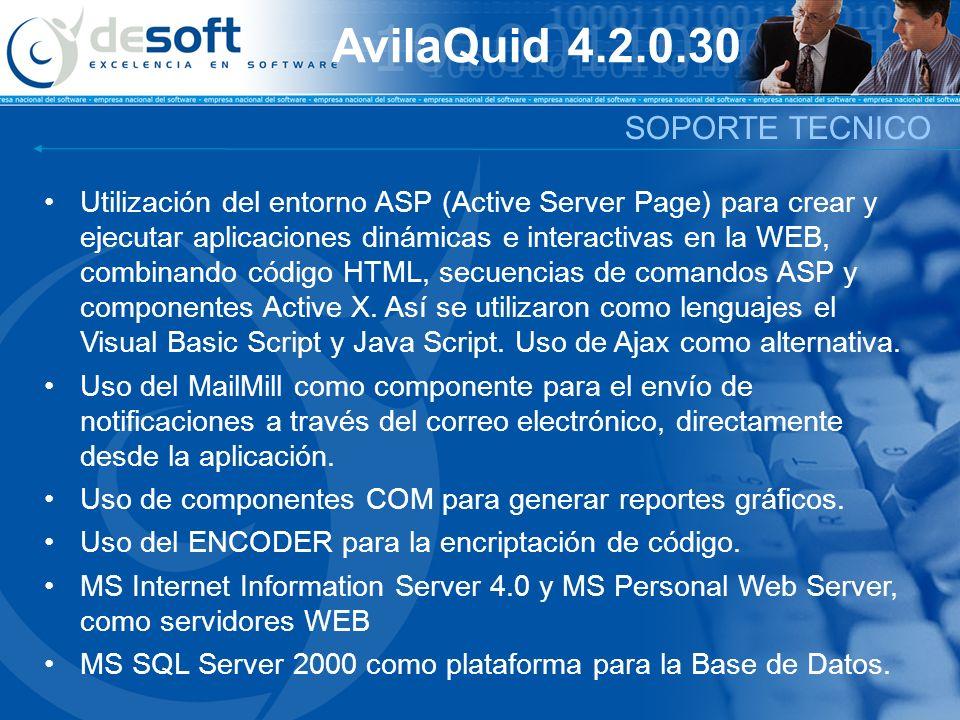 AvilaQuid 4.2.0.30 SOPORTE TECNICO