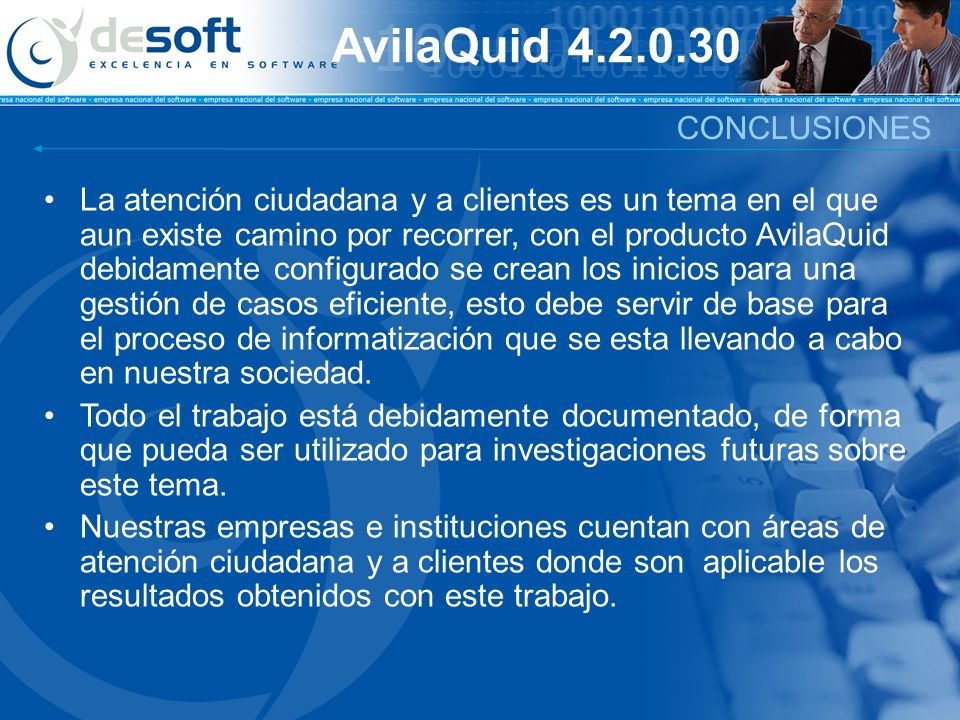 AvilaQuid 4.2.0.30 CONCLUSIONES