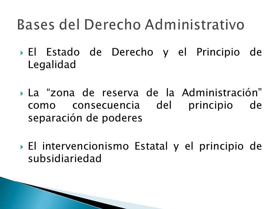 Bases del Derecho Administrativo