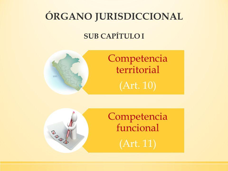 ÓRGANO JURISDICCIONAL SUB CAPÍTULO I