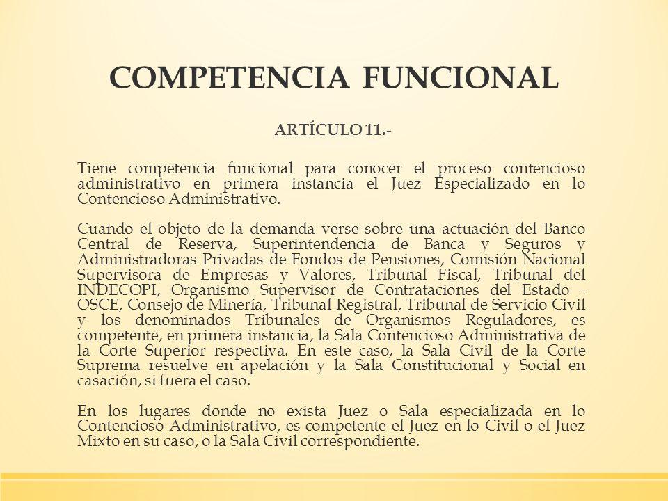 COMPETENCIA FUNCIONAL