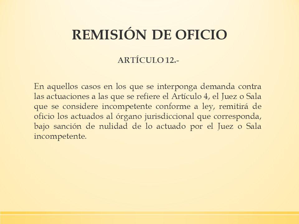 REMISIÓN DE OFICIO ARTÍCULO 12.-