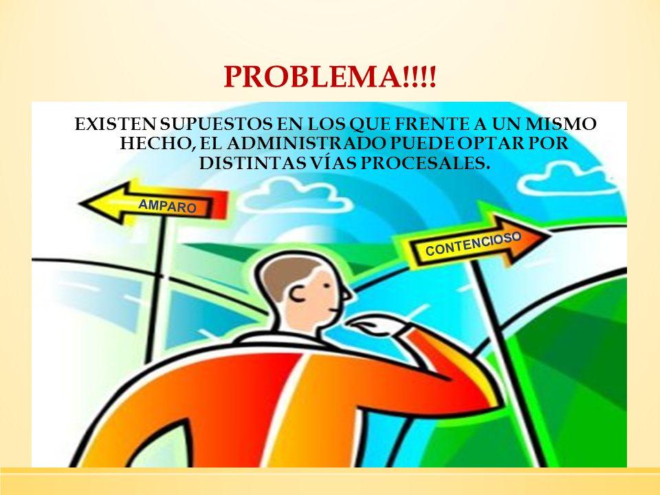 PROBLEMA!!!! AMPARO. CONTENCIOSO.