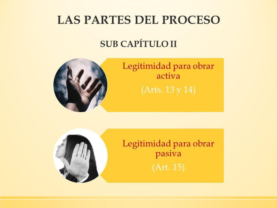 LAS PARTES DEL PROCESO SUB CAPÍTULO II