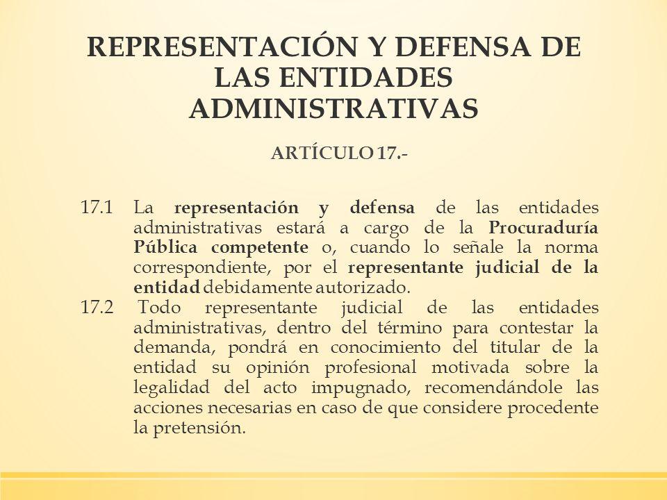 REPRESENTACIÓN Y DEFENSA DE LAS ENTIDADES ADMINISTRATIVAS