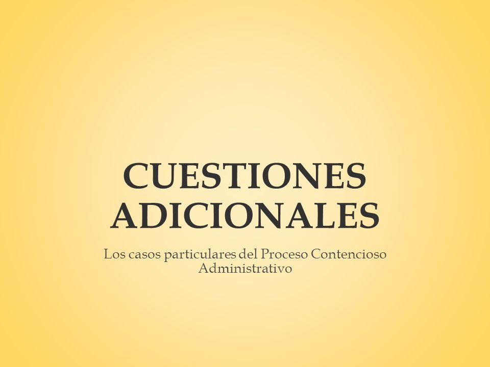 CUESTIONES ADICIONALES