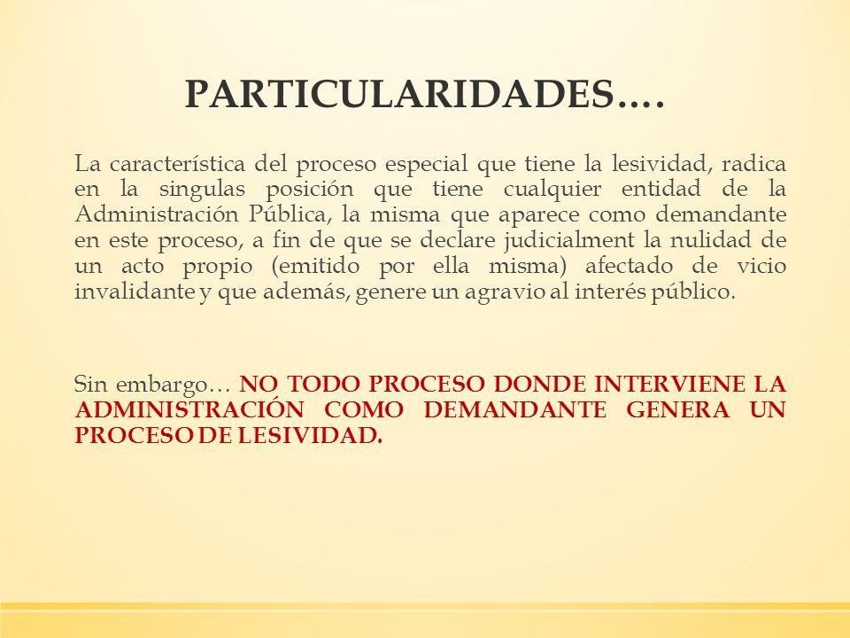 PARTICULARIDADES….