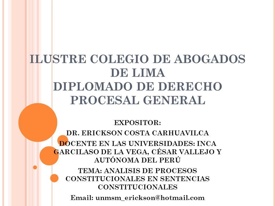 DR. ERICKSON COSTA CARHUAVILCA