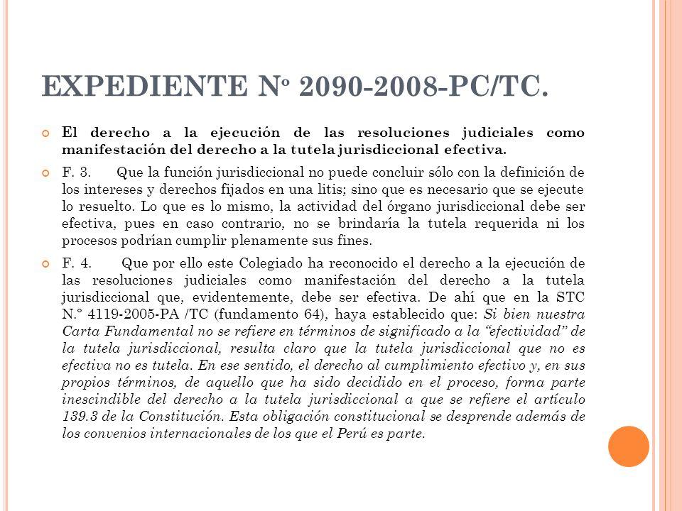 EXPEDIENTE Nº 2090-2008-PC/TC.
