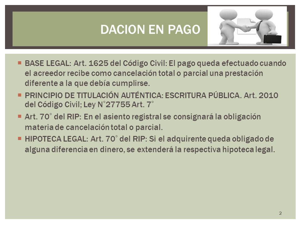 DACION EN PAGO