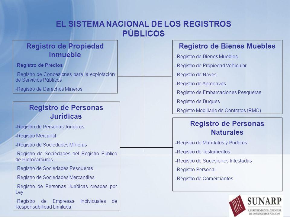EL SISTEMA NACIONAL DE LOS REGISTROS PÚBLICOS