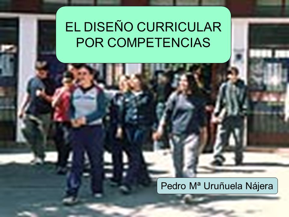 EL DISEÑO CURRICULAR POR COMPETENCIAS