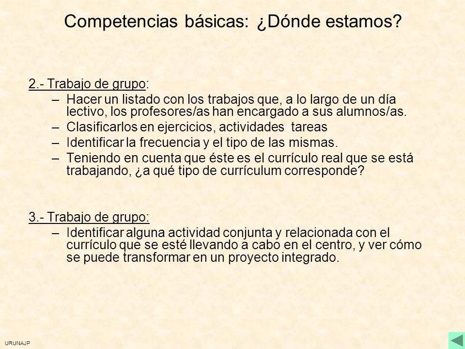Competencias básicas: ¿Dónde estamos