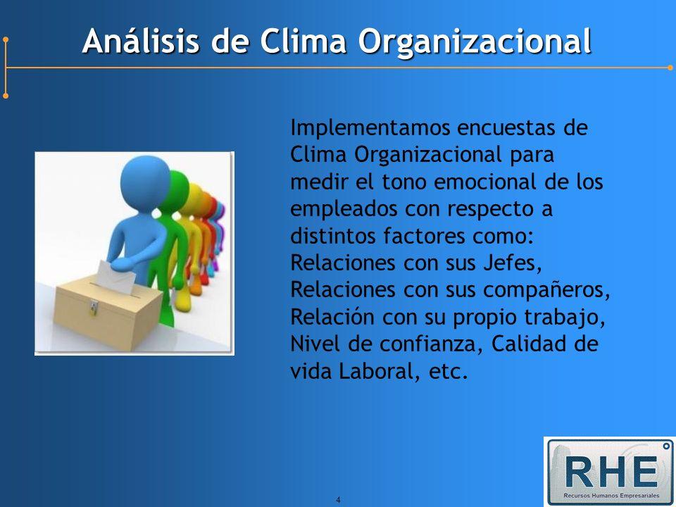 Análisis de Clima Organizacional