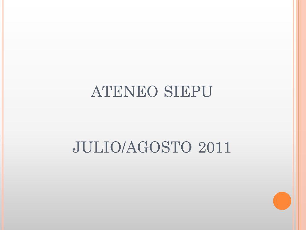 ATENEO SIEPU JULIO/AGOSTO 2011