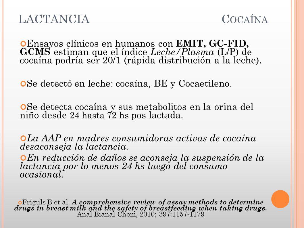 LACTANCIA Cocaína